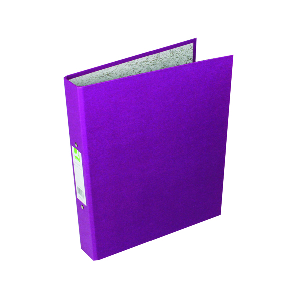 Q-Connect 2 Ring 25mm Paper Over Board Purple A4 Binder (Pack of 10) KF01475