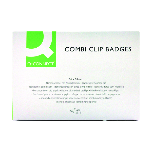 Q-Connect Combination Badge 54x90mm (Pack of 50)