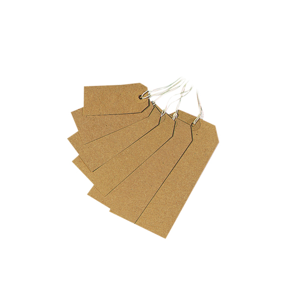 Strung Tag 70x35mm Buff (Pack of 1000)