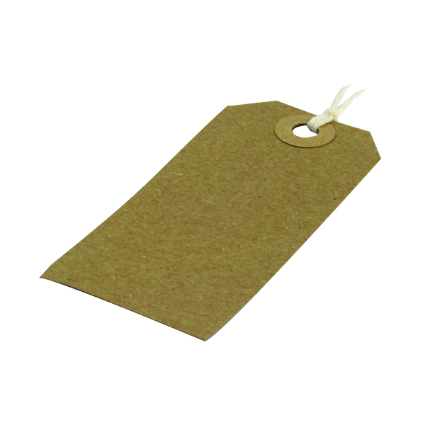 Strung Tag 82x41mm Buff (Pack of 1000)