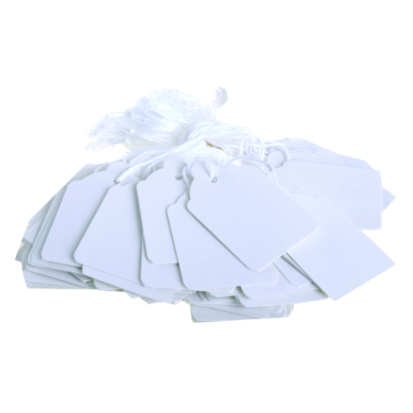 Image for Strung Ticket 30x21mm White (Pack of 1000) KF01617