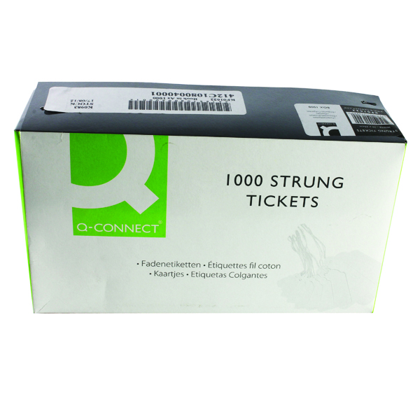 Strung Ticket 70x44mm White (Pack of 1000)