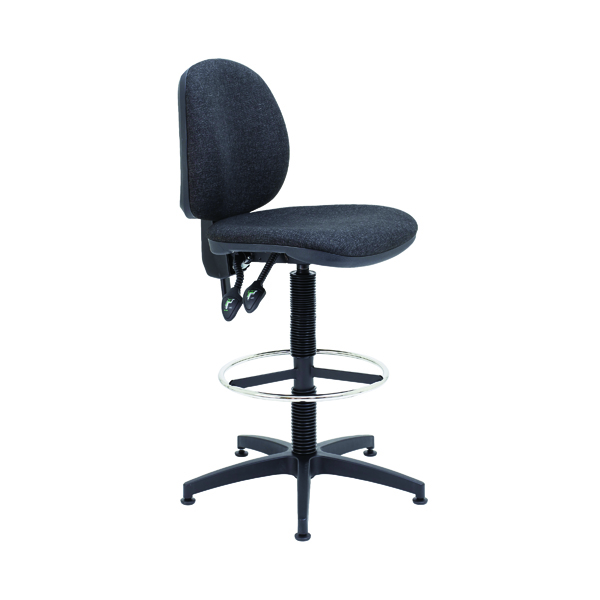 Arista Draughtsman Chair Fixed Footrest Charcoal