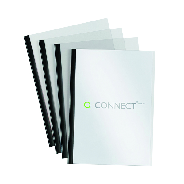 Q-Connect Black A4 5mm Slide Binder and Cover Set (Pack of 20) KF01926