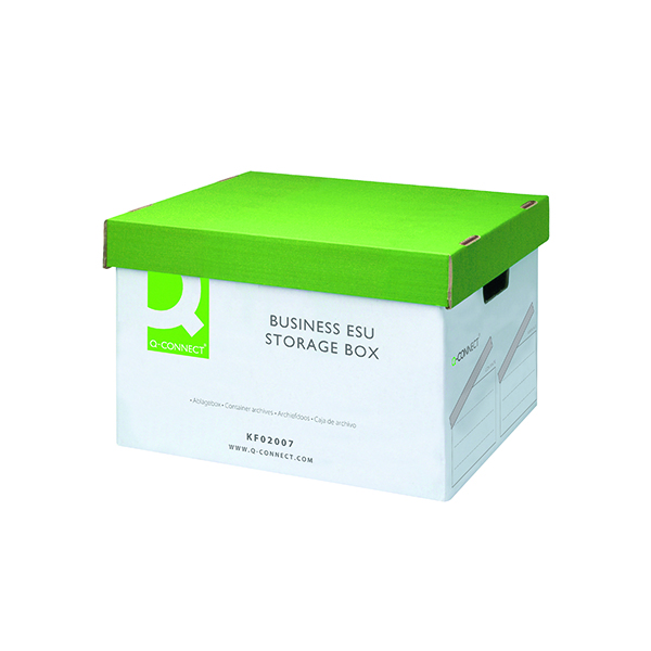 Q-Connect Business Easy Set Up Storage Box (Pack of 10) KF02007
