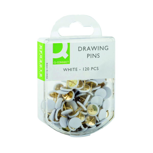 Q-Connect Drawing Pins White (Pack of 1200) KF02019Q