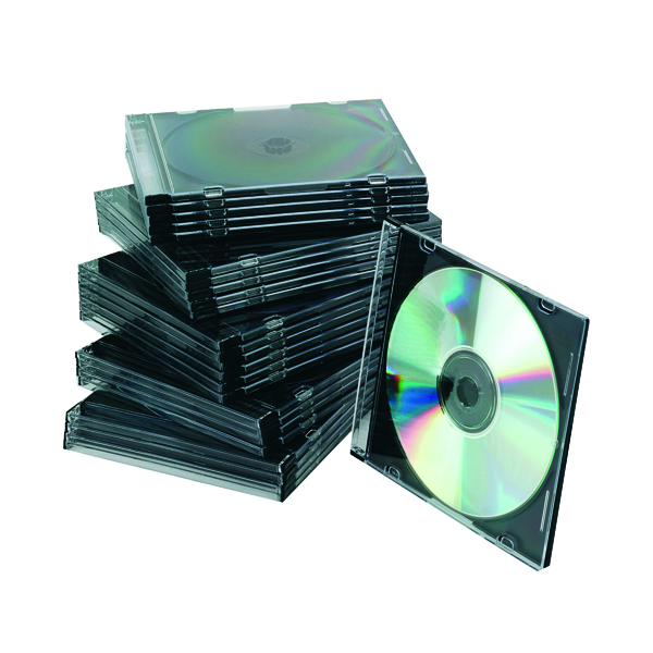 Q-Connect Black Slim Jewel Case (Pack of 25) KF02210
