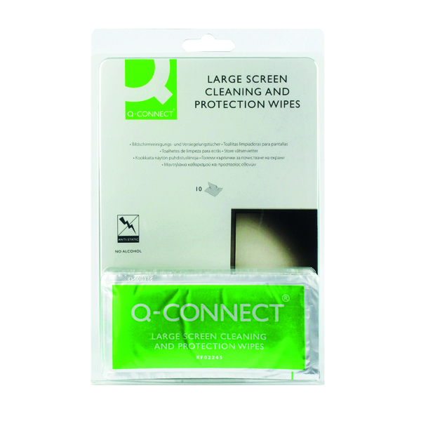 Q-Connect Large Screen/Protection Wipes (Pack of 10) A