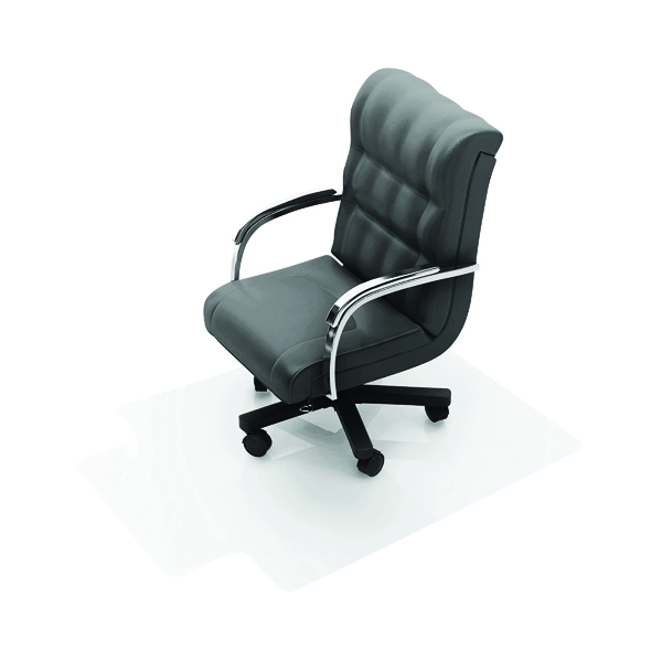 Q-Connect Clear Chair Mat PVC 1143x1346mm (Studded underside for secure grip)
