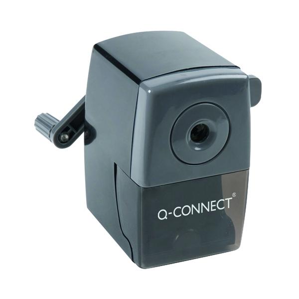 Q-Connect Desktop Pencil Sharpener Black (Autostop feature prevents over sharpening) KF02291