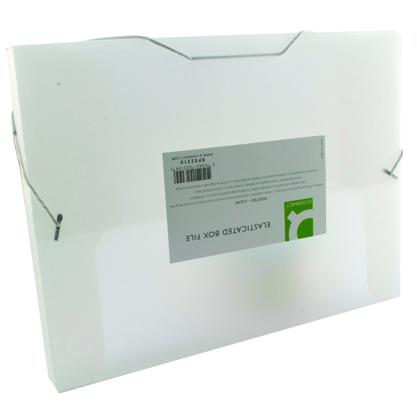 Image for Q-Connect Elasticated Folder 25mm A4 Clear KF02310
