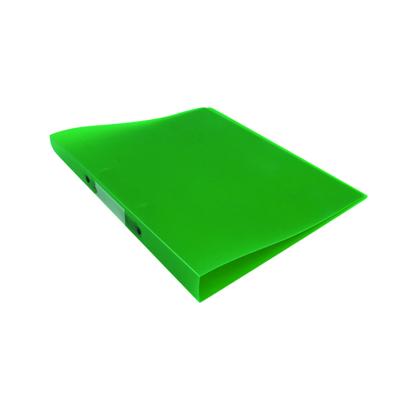 Q-Connect 2 Ring Binder Frosted A4 Green (25mm capacity and has a spine label) KF02484