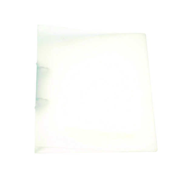 Q-Connect 2 Ring Binder Frosted A4 Clear (25mm capacity and has a spine label)KF02487