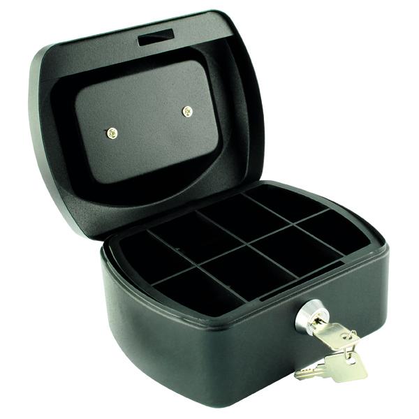Q-Connect Cash Box 6 Inch Black KF02601