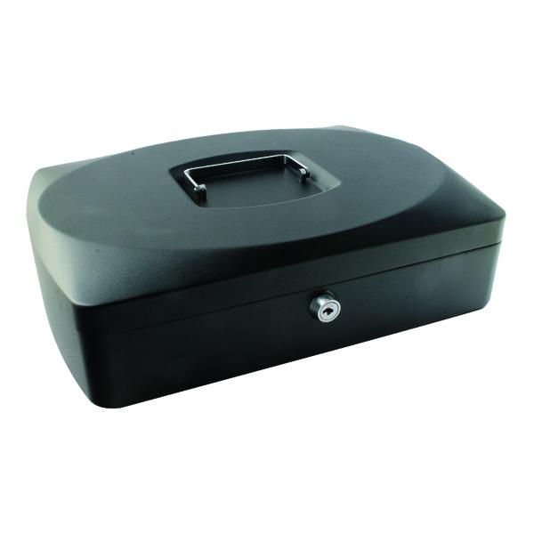 Q-Connect Cash Box 10 Inch Black KF02603
