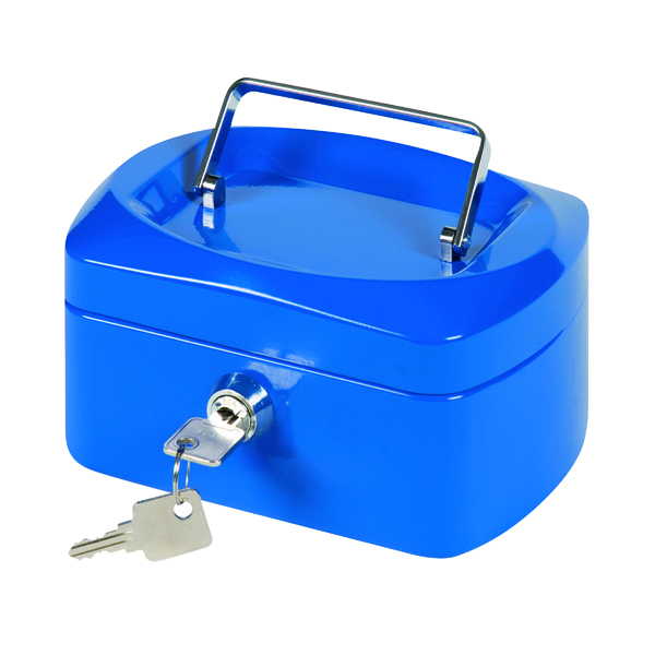 Q-Connect Cash Box 6 Inch Blue