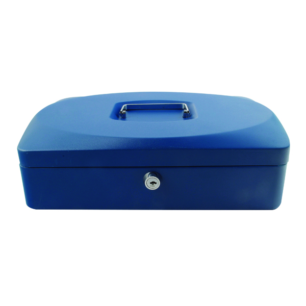 Q-Connect Cash Box 12 Inch Blue KF02625