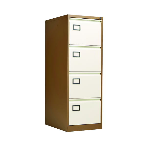 Jemini 4 Drawer Filing Cabinet Coffee/Cream