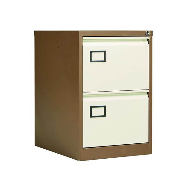 Jemini 2 Drawer Filing Cabinet Coffee/Cream