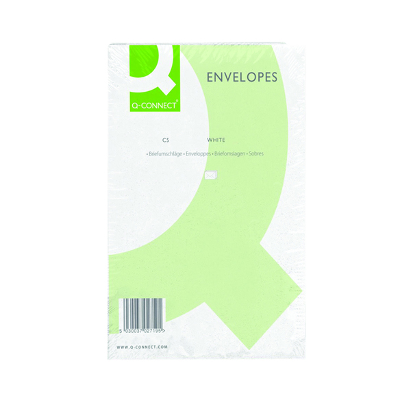 Q-Connect C5 Envelopes Pocket PS 100gsm White (Pack of 500) KF03289