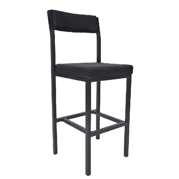 Jemini High Stool with Back Rest Charcoal (Seat height: 700mm)