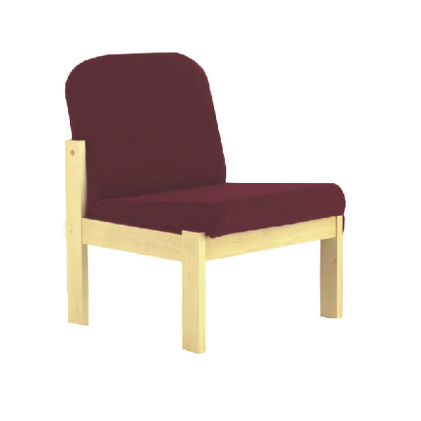 Arista Claret Beech Veneer Reception Seat (Seat Dimensions: W540 x D520mm)