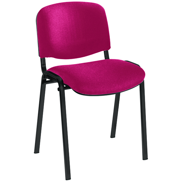 Jemini Ultra Multi Purpose Stacking Chair Claret/Black