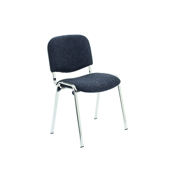 Jemini Ultra Multi Purpose Stacking Chair Charcoal/Chrome