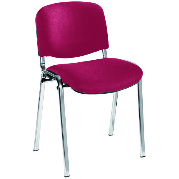 Jemini Ultra Multi Purpose Stacking Chair Claret/Chrome