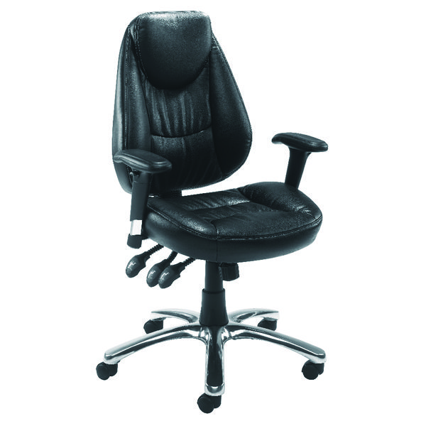 Avior Calabria Leather Look Operator Chair KF03434