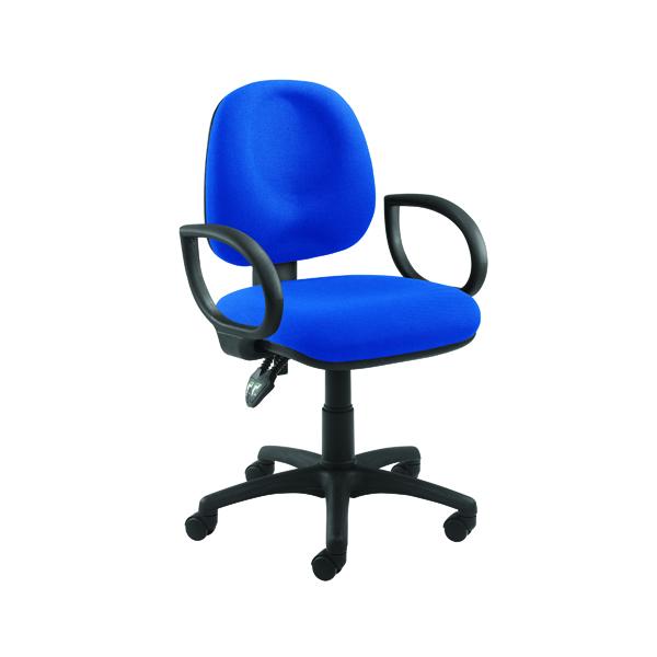 Arista Concept Medium Back Permanent Contact Operator Blue Chair