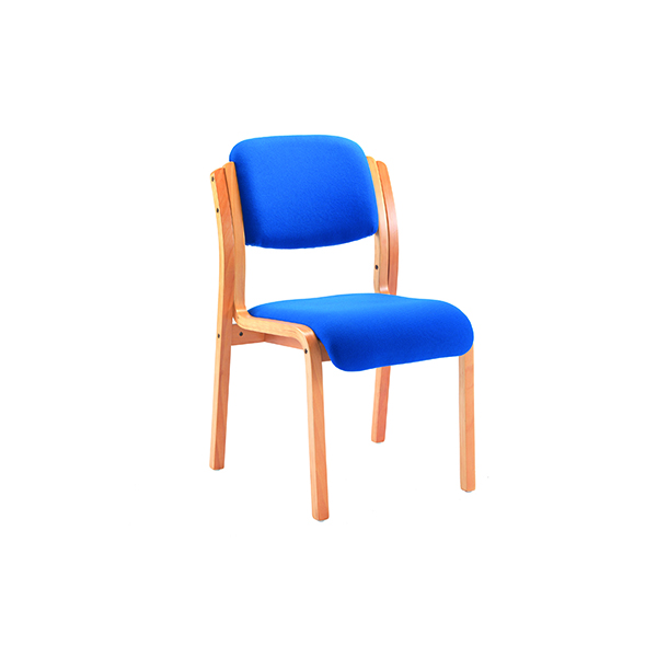 Jemini Blue Wood Frame Side Chair No Arms (Seat Height: 480mm) KF03512