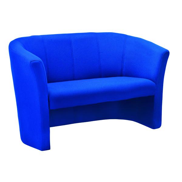 Avior Blue 2 Seat Fabric Tub Sofa