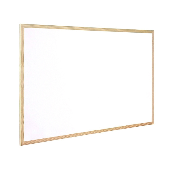 Q-Connect Wooden Frame Whiteboard 900x600mm