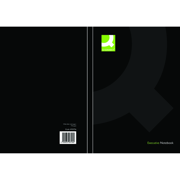 Q-Connect Hardback Casebound Notebook A5 Black (Pack of 3) KF03726