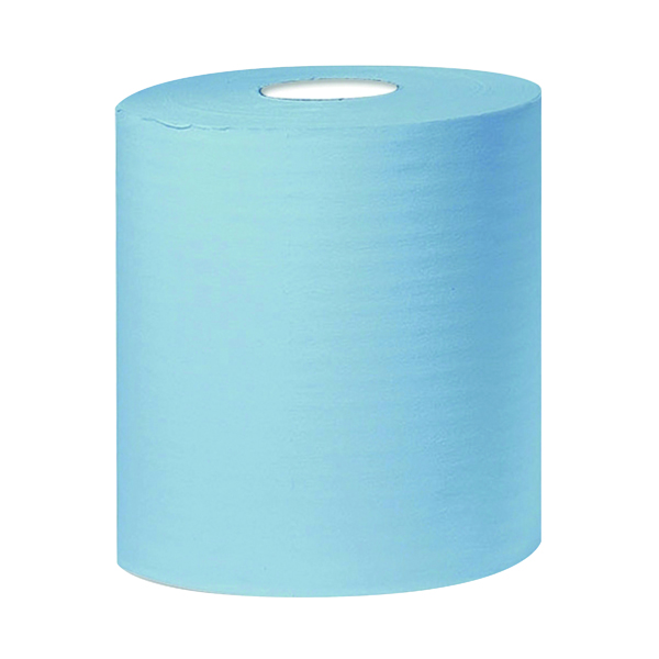 2Work 2-Ply Centrefeed Roll 150m Blue (Pack of 6)