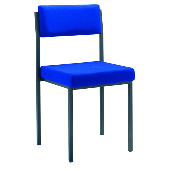Jemini Multi Purpose Stacking Chair Blue (Fabric upholstered seat and back)