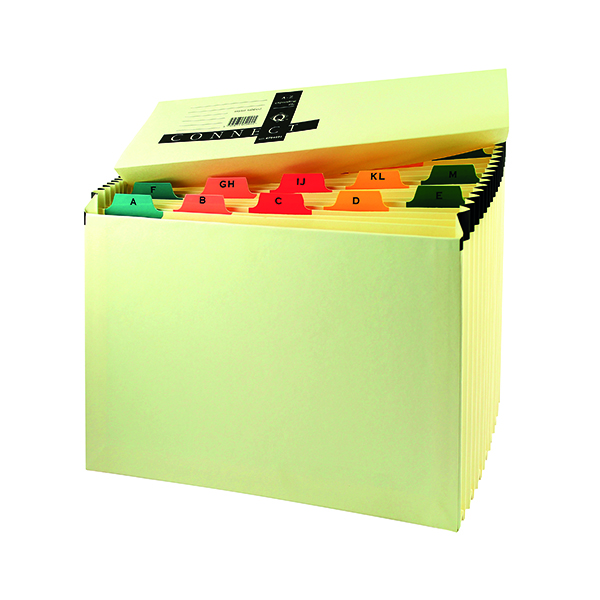 Q-Connect Mylar A-Z 19-Pocket Expanding File Manilla KF04091
