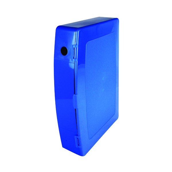 Image for Q-Connect Polypropylene PolyBox File Foolscap Blue KF04103