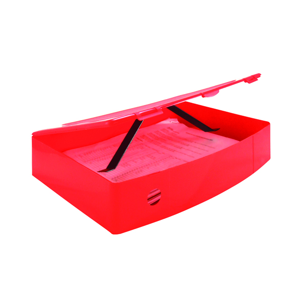 Image for Q-Connect Polypropylene PolyBox File Foolscap Red KF04104