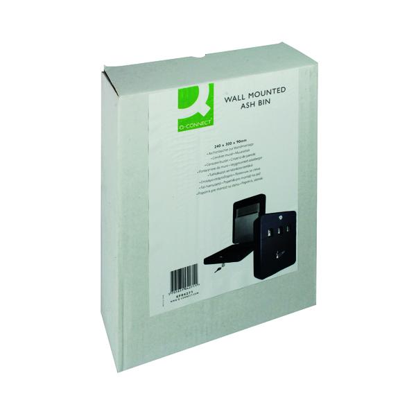 Q-Connect Ash Bin Black 2.7 Litre