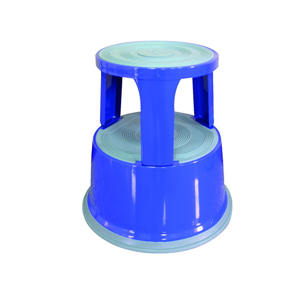Q-Connect Metal Step Stool Blue