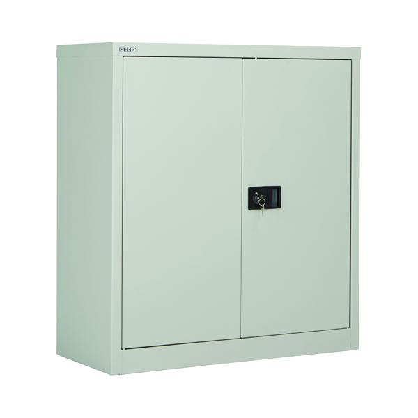 Jemini 2 Door 1000mm Stationery Cupboard Grey