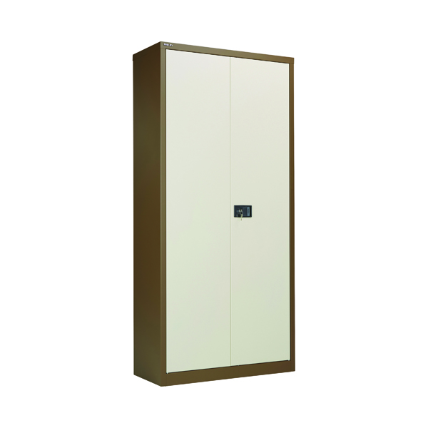 Jemini Coffee/Cream 2 Door Storage Cupboard 1950mm