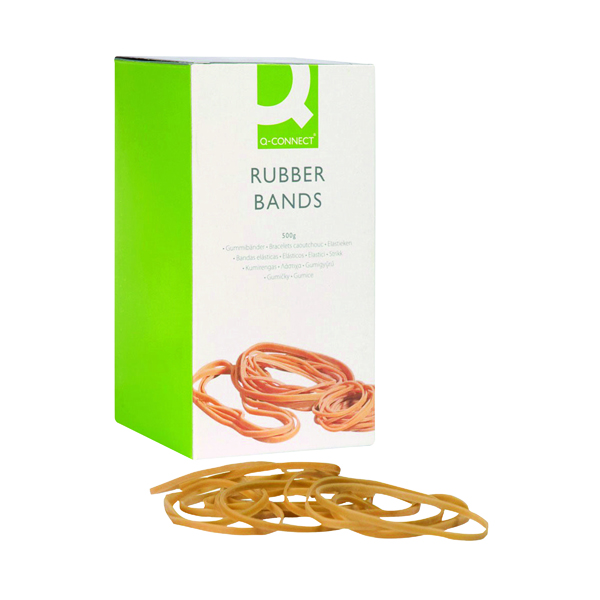 Q-Connect Rubber Bands No.34 101.6 x 3.2mm 500g