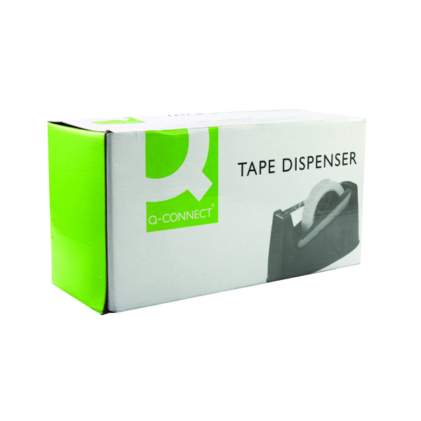 Q-Connect Tape Dispenser Large Black (Suitable for tape upto 25mm wide and 33/66m long) MPTDPKPBLK