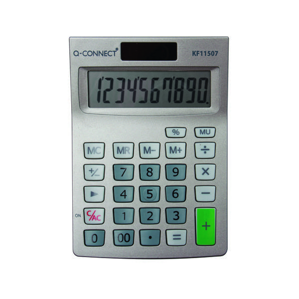 Q-Connect Semi-Desktop 10-Digit Calculator