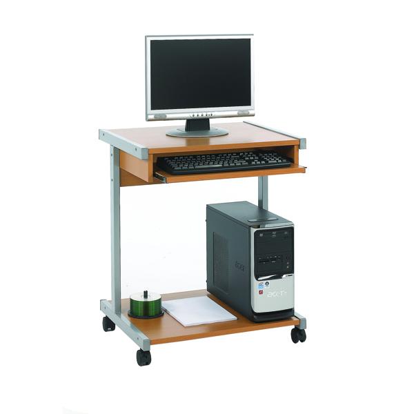 Image for Serrion Beech 650mm Mobile Computer Workstation KF14101