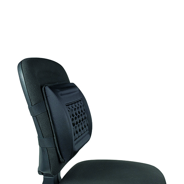 Q-Connect Foam Back Support Black