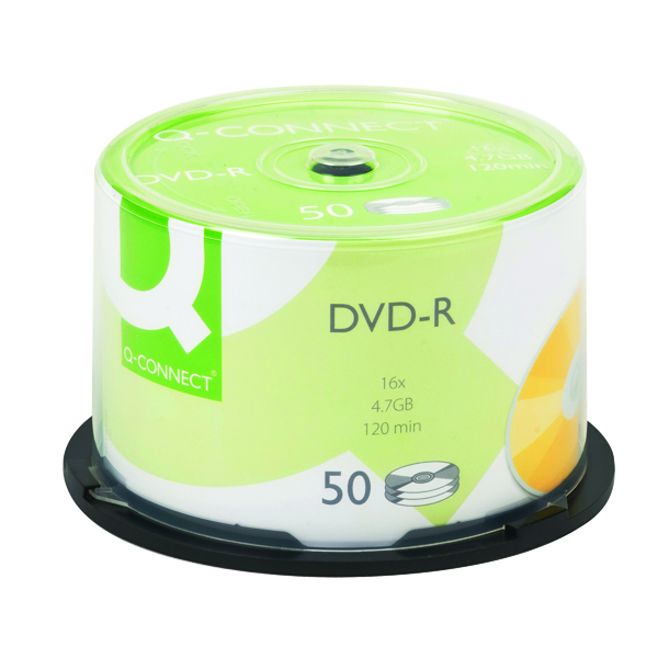 Q-Connect DVD-R 4.7GB Cake Box (Pack of 50) KF15419